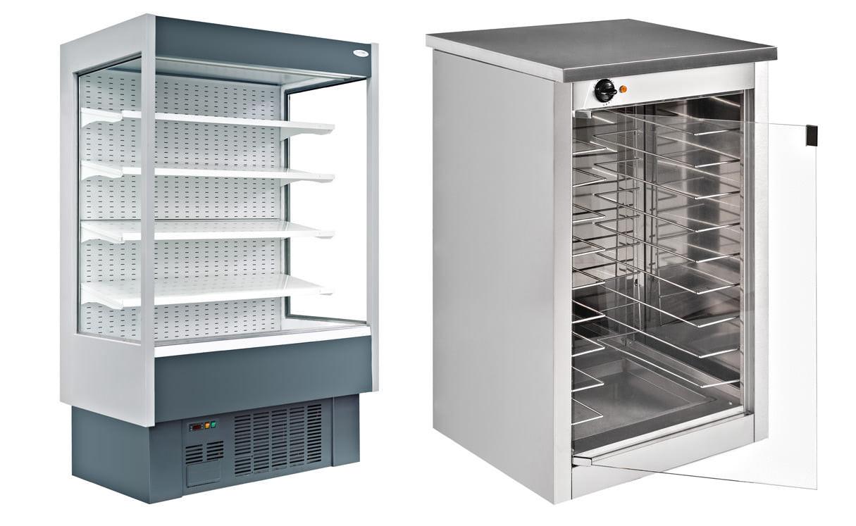 Фото холодильного оборудования и витриня для гипермаркета, фотосъемка промышленного оборудования в цехе производственного предприятия с помощью выездной мобильной студии